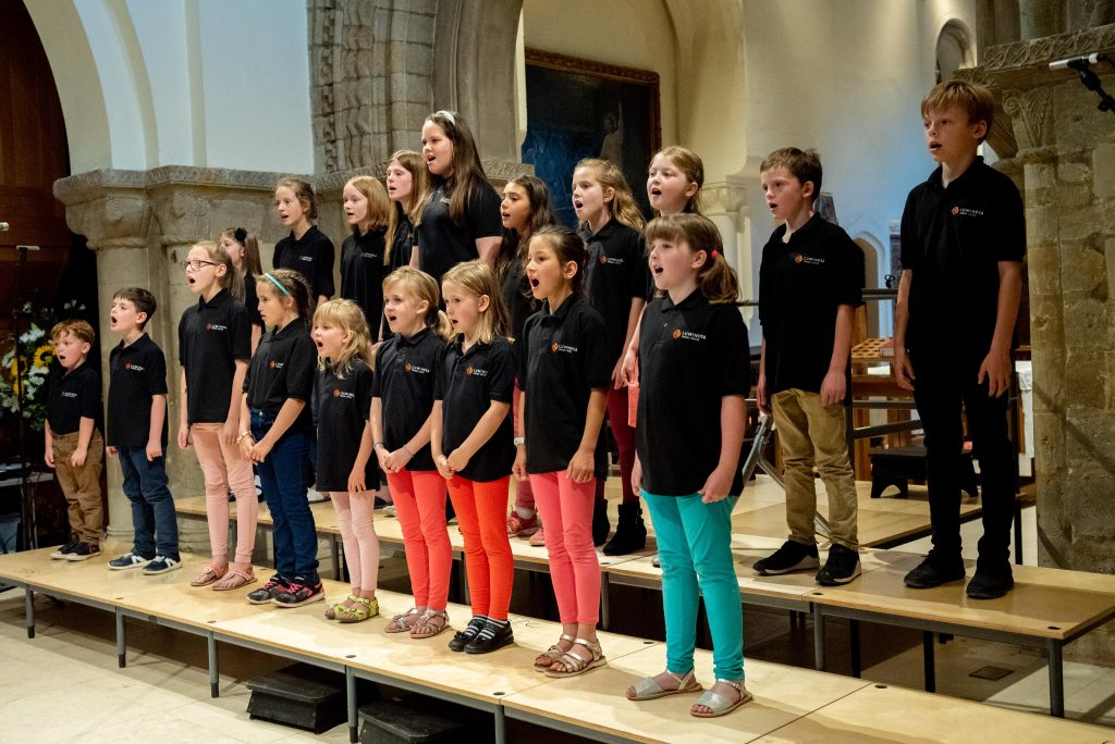 Luminosa Young Voices performing in St. Peter's Church, Petersfield Jul '19
