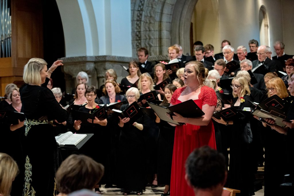 Soprano Ella De-Jongh performing with Luminosa Voices, St. Peter's, Petersfield, Jul '19
