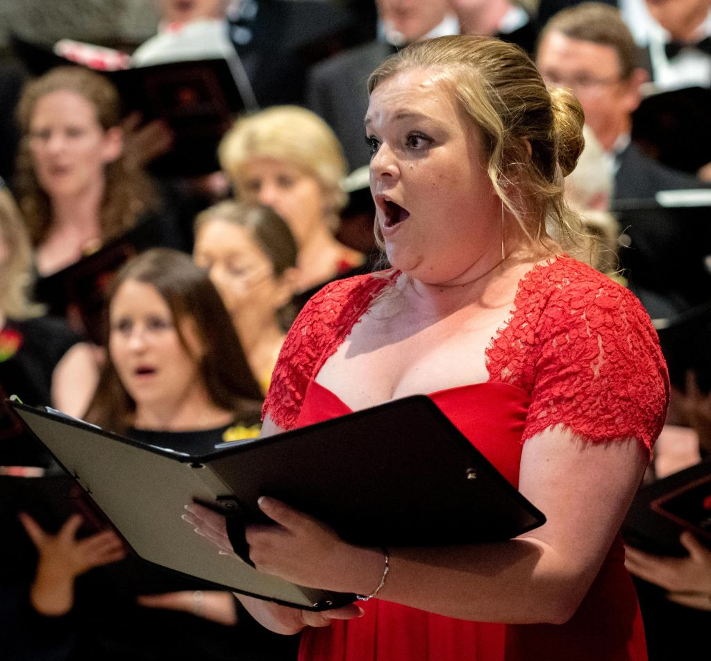 Soprano Ella De-Jongh performing with Luminosa Voices in St. Peter's, Petersfield - Jul '19