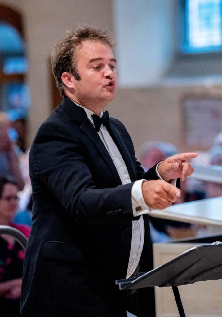 Jonathan Upfold | Tenor & Conductor of Luminosa Young Voices. Luminosa Voices, Opera Choruses Concert, Petersfield, 13th July '19. Photo Credit: Vernon Nash